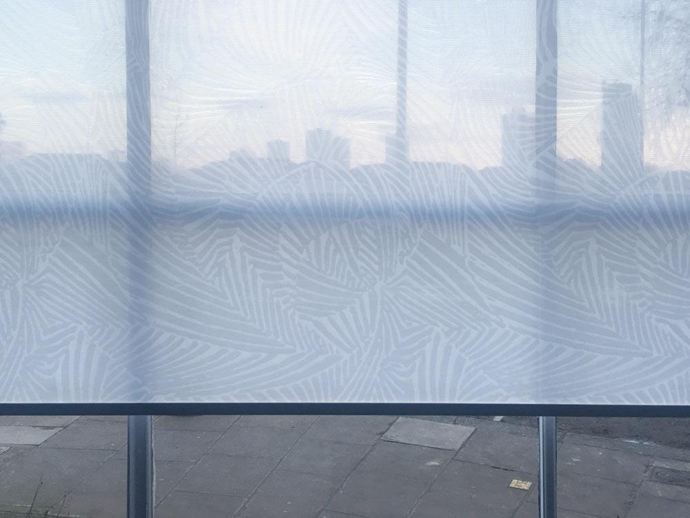 Patterned Sheer Roller Blind Fabric Venestre