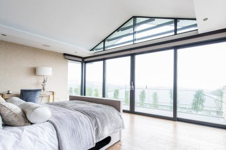 Luxury window treatments electric blinds