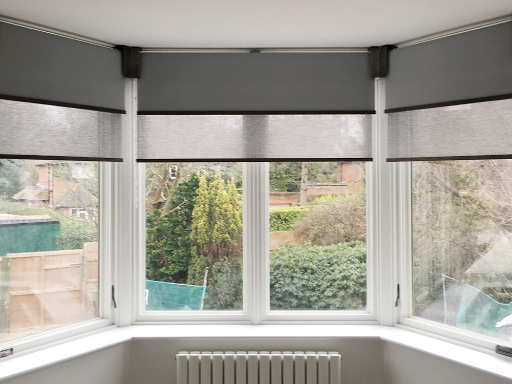 Double Roller Blinds For Bay Windows Venestre